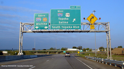 new sign highway font highways kansas interstate turnpike topeka overhead 1000views clearview kta bgs 2000views 5000views 3000views biggreensign 4000views i335 shawneecounty i470 kansasturnpike driverpic interstate470 interstate335 southtopekablvd facetype exit177