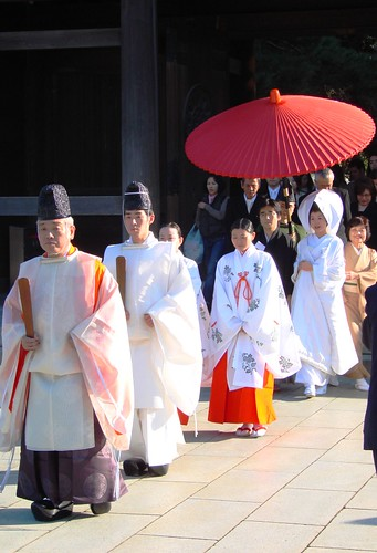 Shinto wedding procession