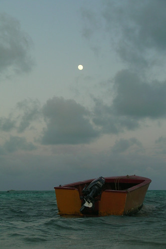 sunset moon boat pacificocean solemn christmasisland