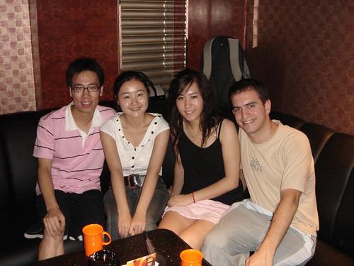 Con Kani en el KTV de Beijing