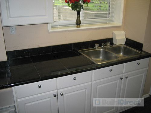 Black Glass Kitchen Countertops