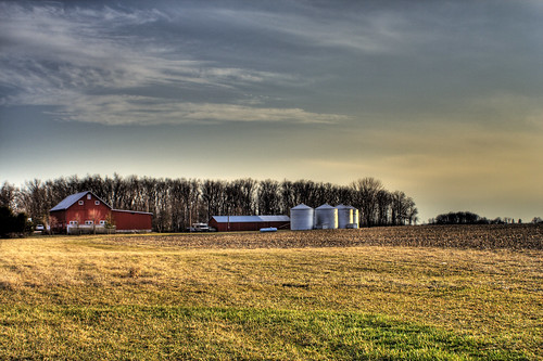 ohio red house field canon rebel xt farm country hdr