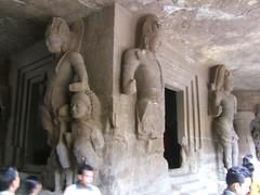 Statues in Elephanta Island Caves, Mumbai