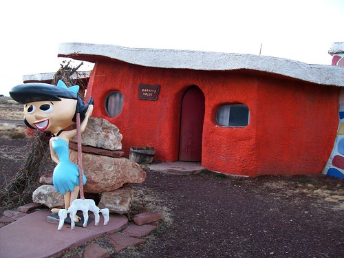Barney Rubble's house at the fading tourist trap of Bedrock City, Arizona (bedrock26xy)