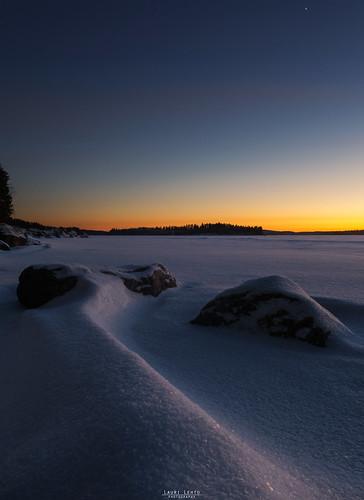 night evening sunset bluehour ice snow lake winter winterwonderland sky cold nikon d3100 nikkor 175528g nature naturelovers instagram laurilehtophotography suomi finland jyväskylä leppälahti landscape nikonphotography luonto maisema talvi pakkanen auringonlasku taivas