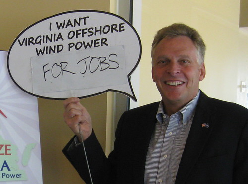 Terry McAuliffe- I want Virginia offshore wind power for jobs