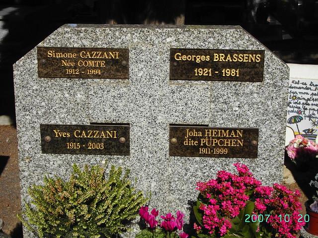Tombe du poète Georges Brassens Ville de Séte. France