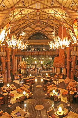 Animal Kingdom Lodge by night