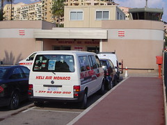 Monaco, Fontvieille heliport entrance