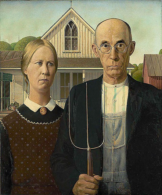 the american gothic painting