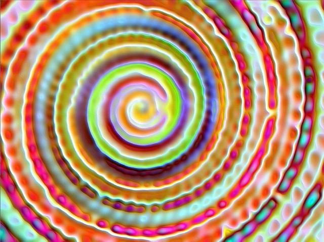 Orange shell spiral