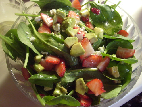 Spinach / Fruit Salad by allisonac, on Flickr