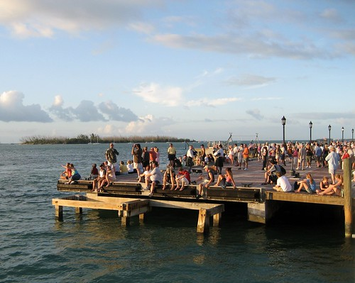 Waiting for the Sunset in Mallory Square