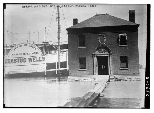 Harbor Master's Office, St. Louis, during flood (LOC)