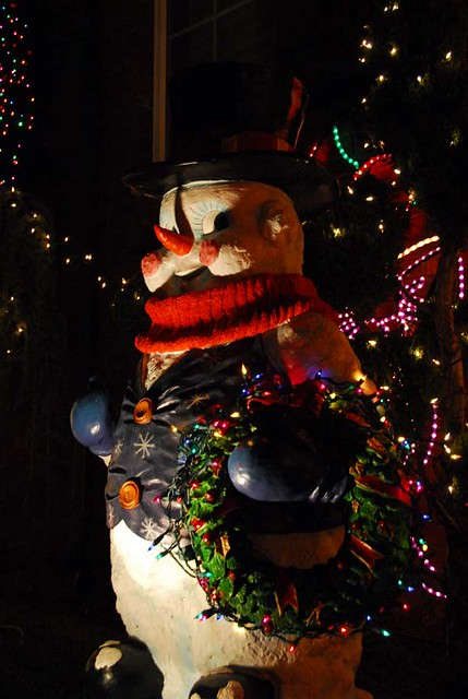 christmas snowman in dyker heights