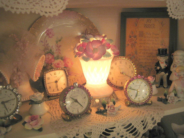 A Few Rhinestone Clocks