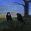 crows with tree