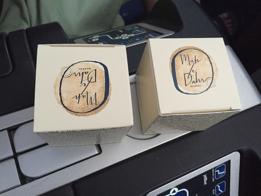 Boxes of cookies on JetBlue Mint