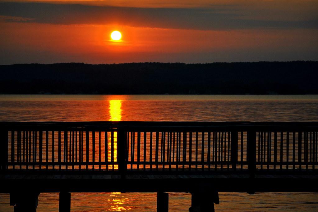 Sunset Lake Mountains Reflection Water Beautiful River Landscape Pier Scenery Alabama Tennesseeriver Guntersville Lakeguntersville Robcarter
