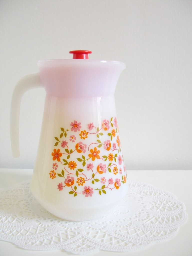 My latest thrifty find, a fabulous Arcopal Scania glass jug! | Emma Lamb