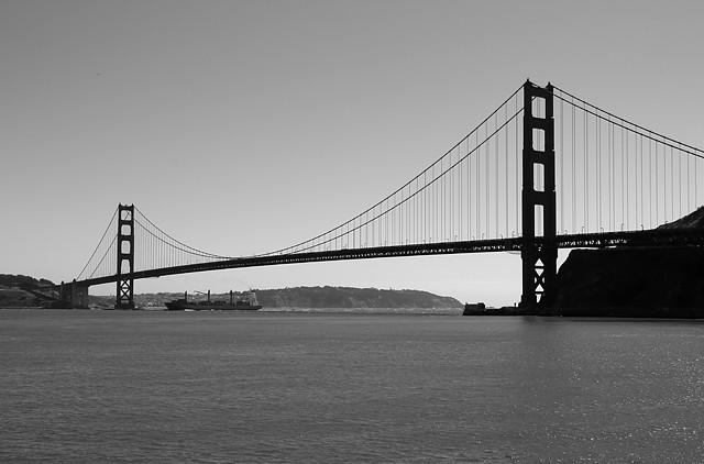 Golden Gate Bridge Black And White Flickr Photo Sharing