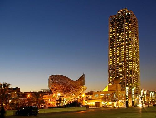 Hotel Arts y pez de oro, Barcelona