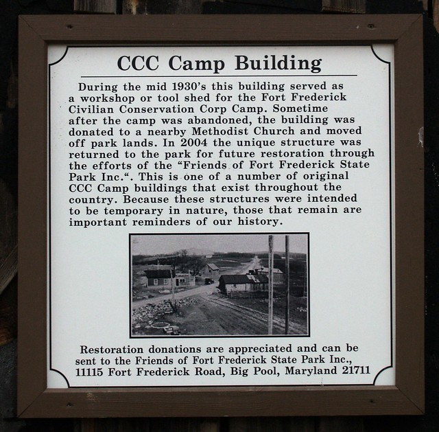 Sign, Civilian Conservation Corps Camp Building (Fort Frederick, MD)