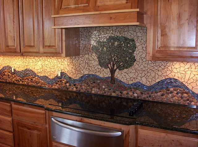 pecan tree mosaic backsplash ii flickr photo sharing