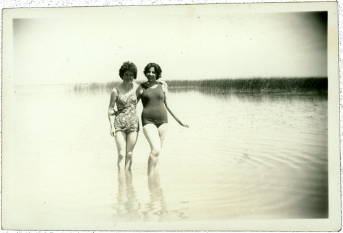 Two women at the lake