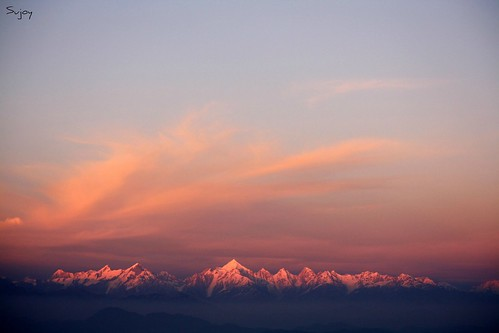 sunset india himalaya binsar sujoy uttarakhand