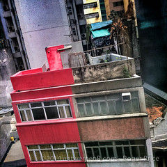 Looking out the window in Sheung Wan...