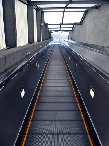 really long escalator
