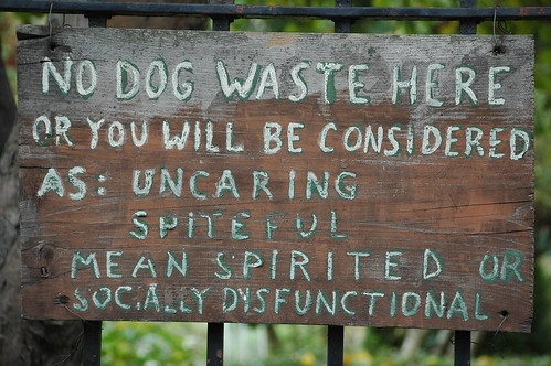 NO DOG WASTE HERE, East 4th Street Community Garden, Kensington, 2007