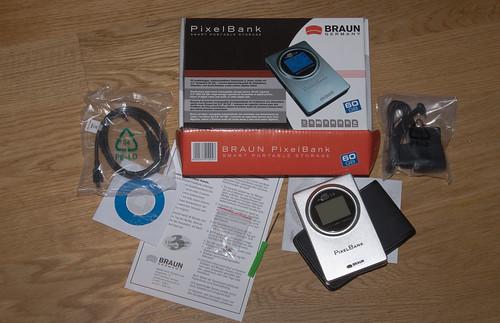 Braun PixelBank box contents