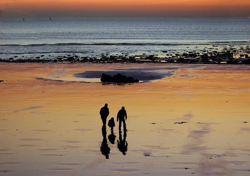 3-2718 End of sunset on LE HAVRE beach France 法国勒阿弗尔 日落 선셋