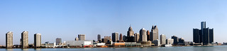Panorama of the Detroit Riverfront