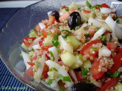 Taboul de quinoa dieta seignalet for Cocinar la quinoa
