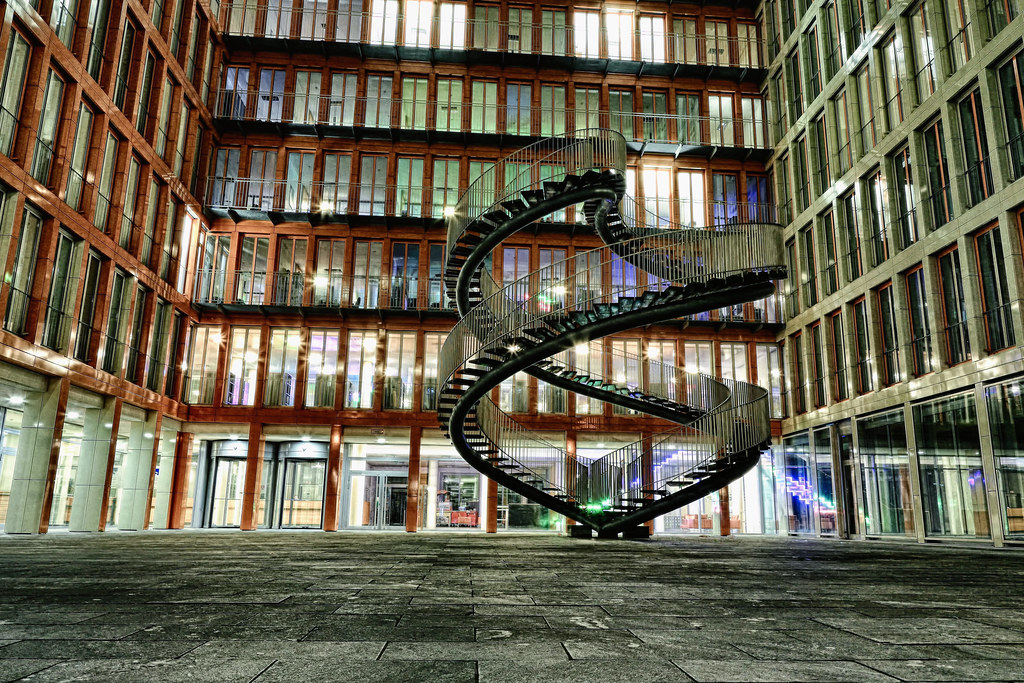 Intertwined Stairs @Night