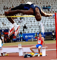 athletics, track and field athletics, sports, high jump, heptathlon, person, athlete,