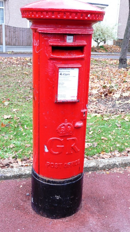 English Letter Box in Oxlow Lane, Dagenham
