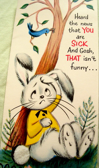 Bunny Get Well card