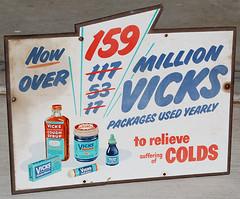 Vicks Medicine Sign, 1950's