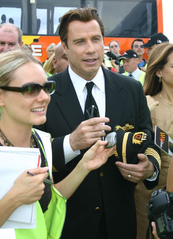 John Travolta at Brisbane Airport