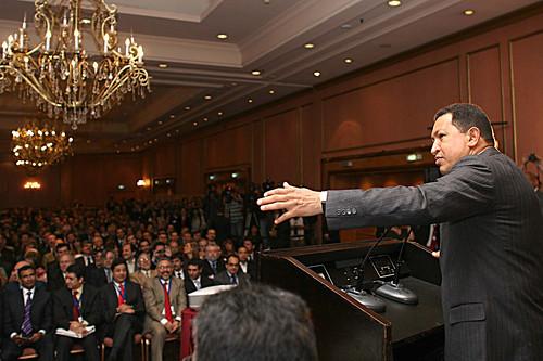 Presidente Chávez sostuvo un encuentro con empresarios argentinos
