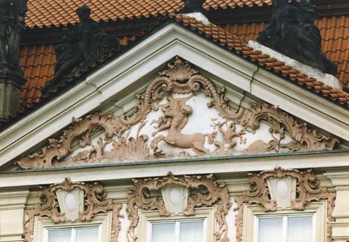 Praha, Goltz-Kinsky palace, façade, detail
