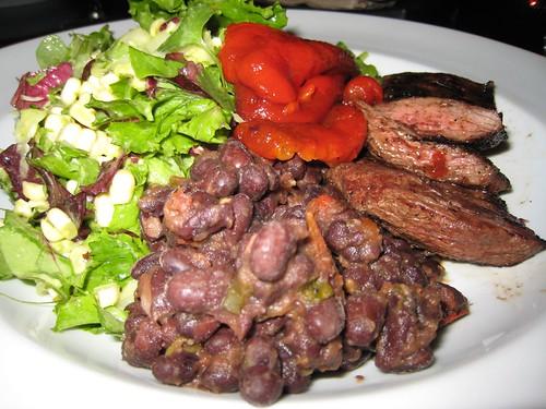 skirt steak, black beans, roasted red peppe… IMG_0629