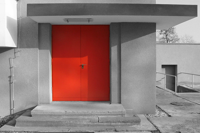 The red Door of the Bauhaus & Red Door 2 - a gallery on Flickr