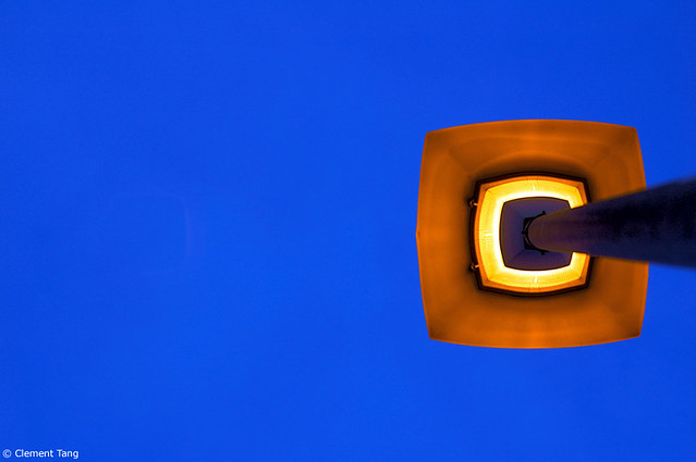 Minimalist street lamp