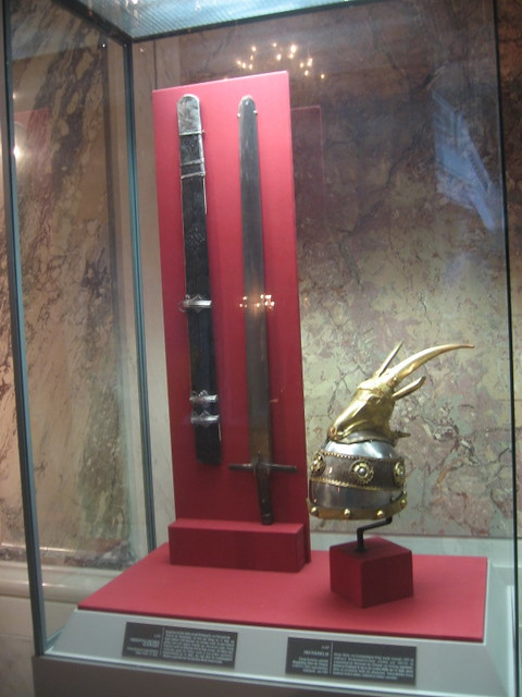 Shpata dhe kaska e Skënderbeut në Austri