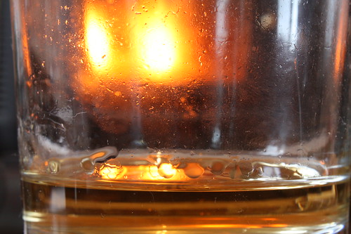 White port and a bright fire